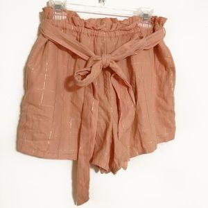 NWT American Eagle pink tie waist soft shorts